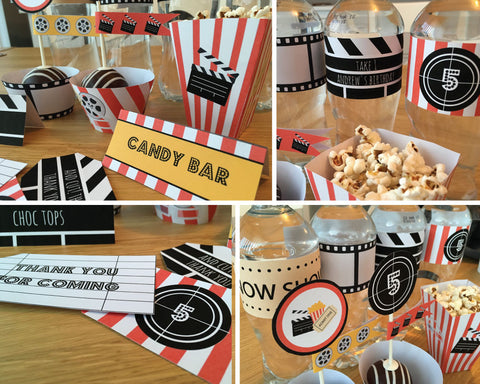 cinema party printables kids party