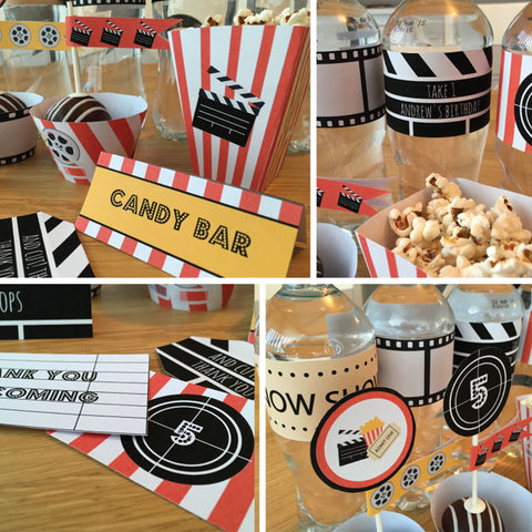 movie cinema party printables