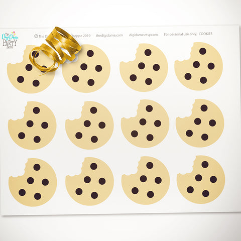 free printable choc chip cookies