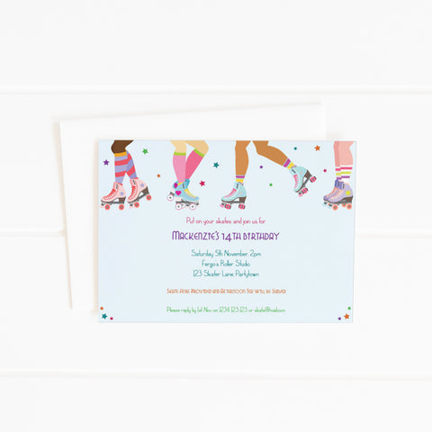 roller skating party invitation printable template