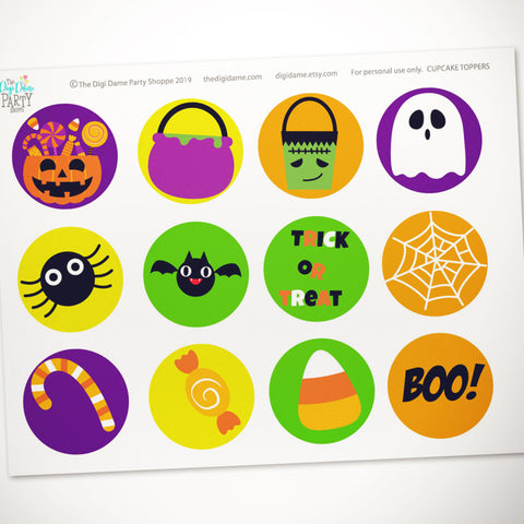 free halloween cupcake toppers printable