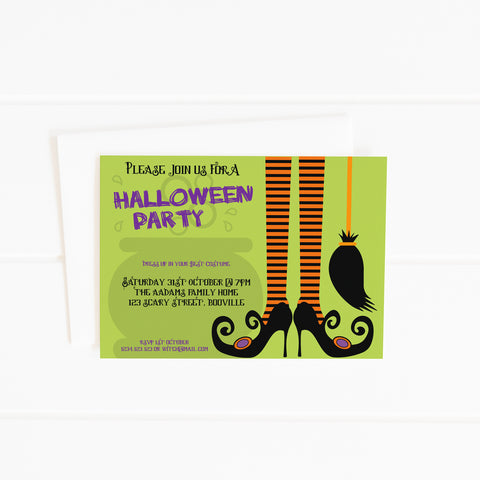 editable printable halloween party invitation template