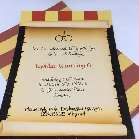editable printable harry potter party invitations