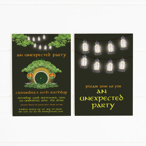 hobbit printable party invitations and decorations online shop