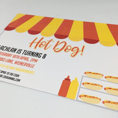 editable and printable hot dog party invitation template