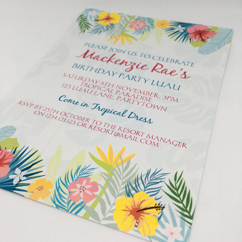 luau party invitation