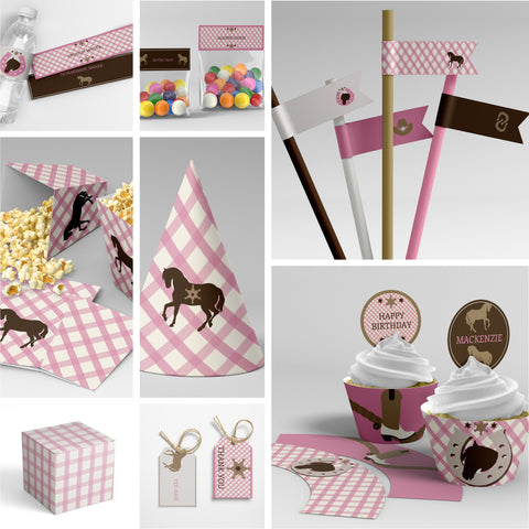 pony club printable party decorations