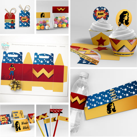wonder woman party printables
