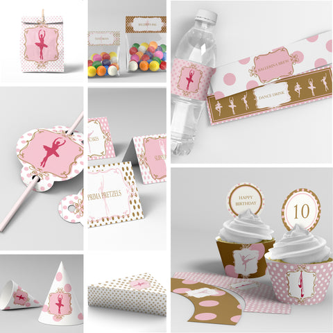 ballerina party decorations printable
