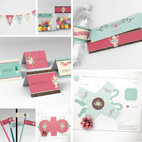 tea party printables pack