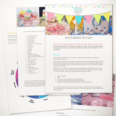 free printable party decorating guide booklet ebook download