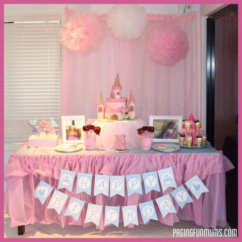 DIY tulle cake stand princess party