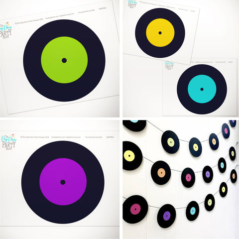 printable records bunting pack