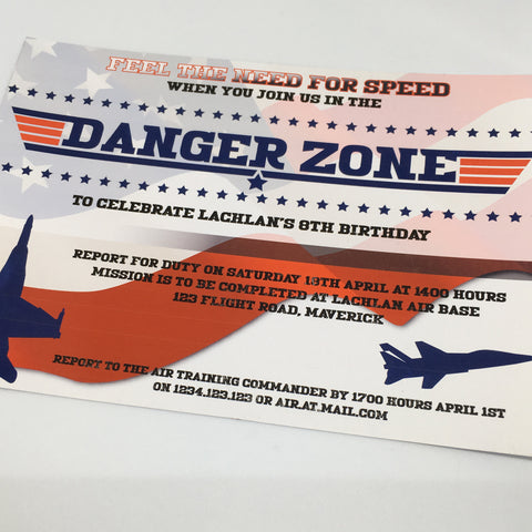 top gun party invitation
