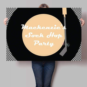 1950s Sock Hop Party Backdrop