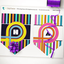 80's printable party decor