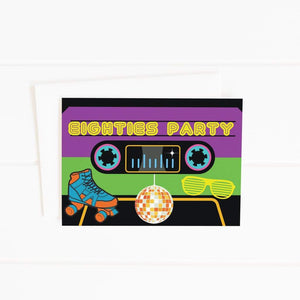 80's cassette tape party invitation