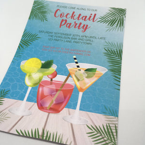 editable printable summer cocktail party invitation template