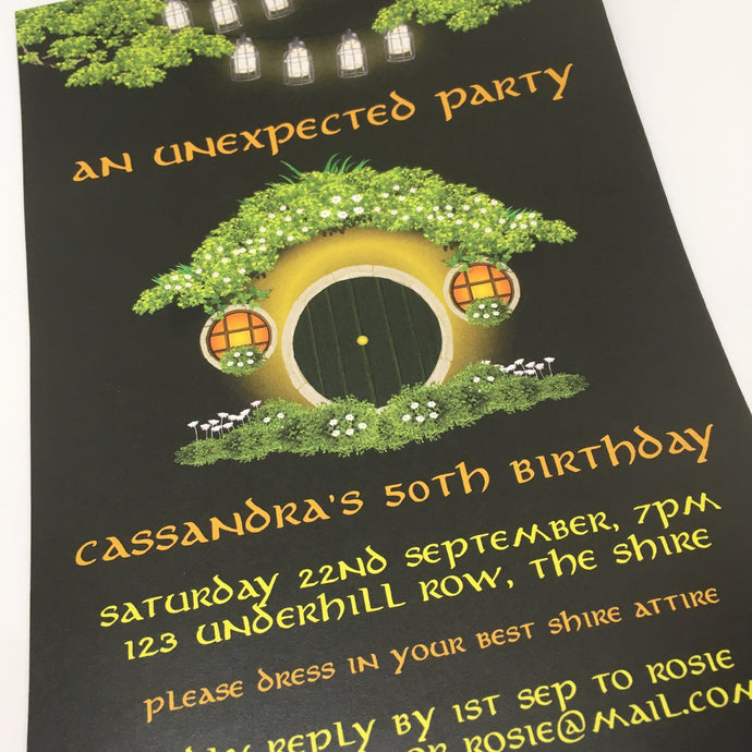 editable printable hobbit hole party invitation template