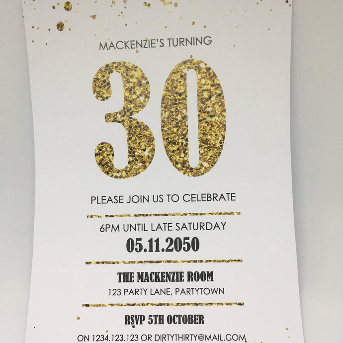 editable printable 30th birthday party invitation template