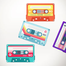 printable cassette tape bunting