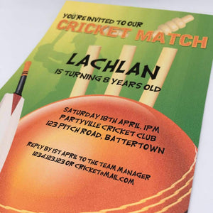 printable cricket match invitation