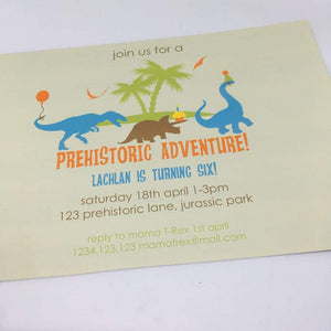 printable dinosaur party invitation