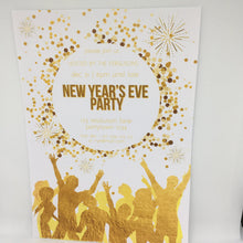 gold nye party printable invitation