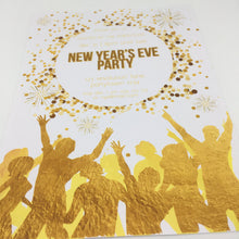 white gold new year's eve party invitation