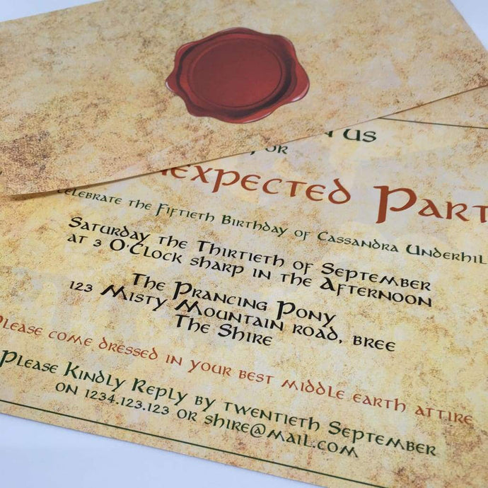 unexpected party invitation