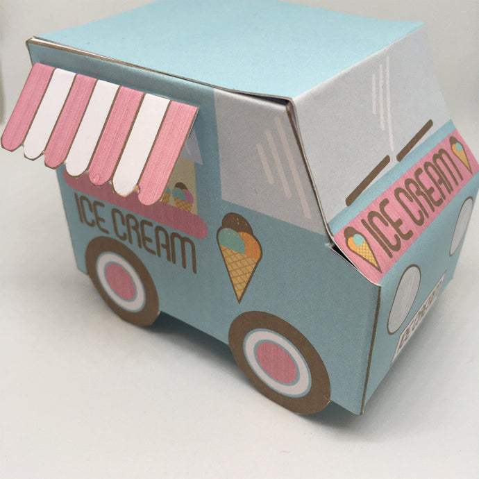 printable ice cream truck party favour box