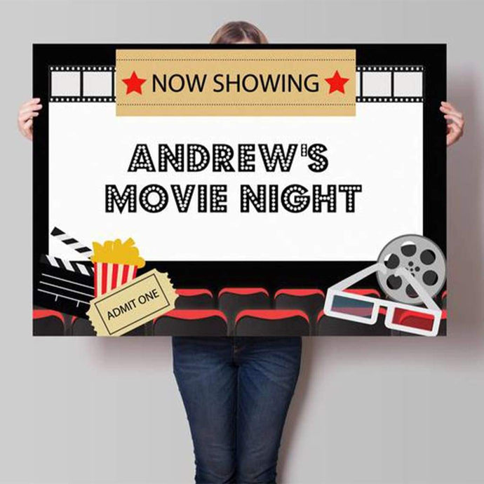 movie cinema party backdrop printable poster