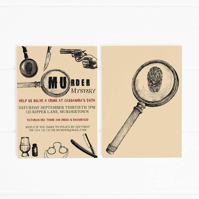 printable murder mystery party invitation template