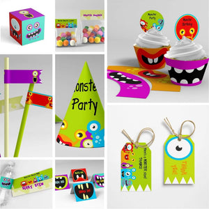monster mash party printables