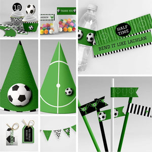 kids soccer party printables