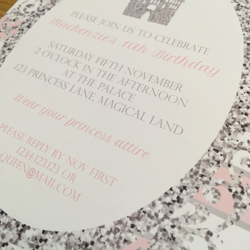 graphic relating to Printable Party Invite named Red White Princess Occasion Invitation