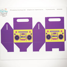 80's party boombox favor box