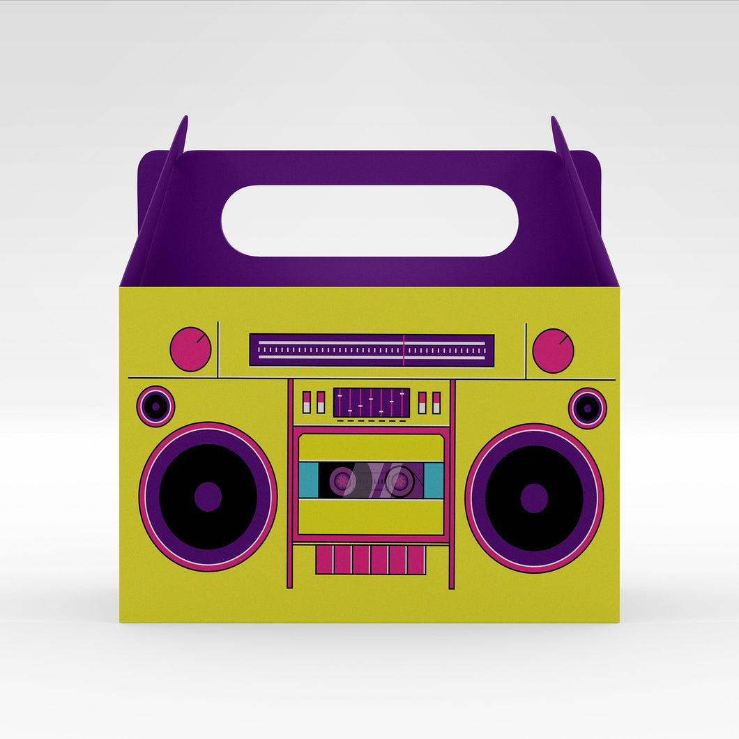 printable 80's party boombox