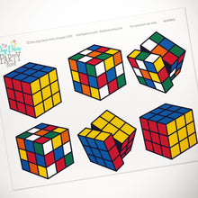 rubik's cube party decorations