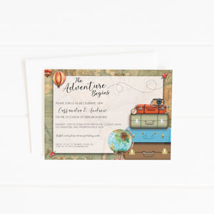 printable adventure travel party invitation
