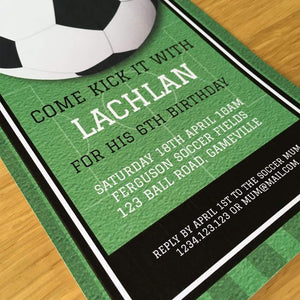 printable soccer party invitation
