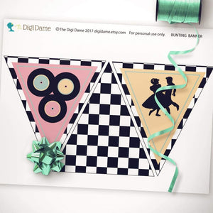 sock hop party decor