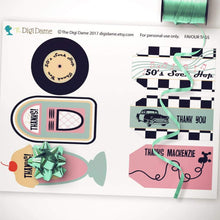 50s diner party printables