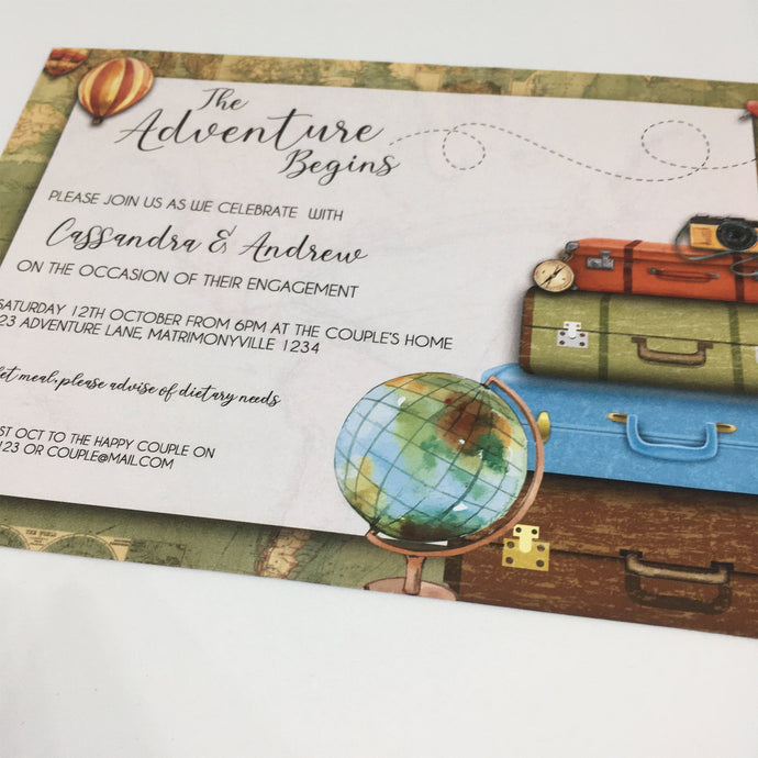 the adventure begins printable party invitation template