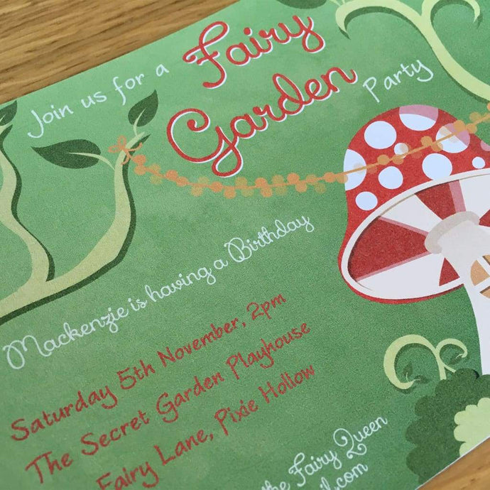 printable woodland fairy party invitation
