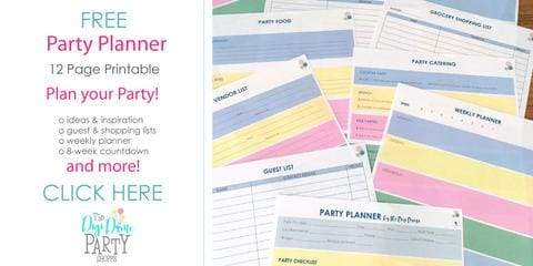 free printable party planner instant download