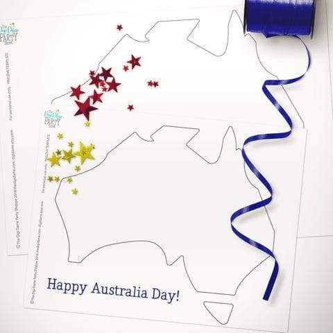 free printable australia day pavlova template