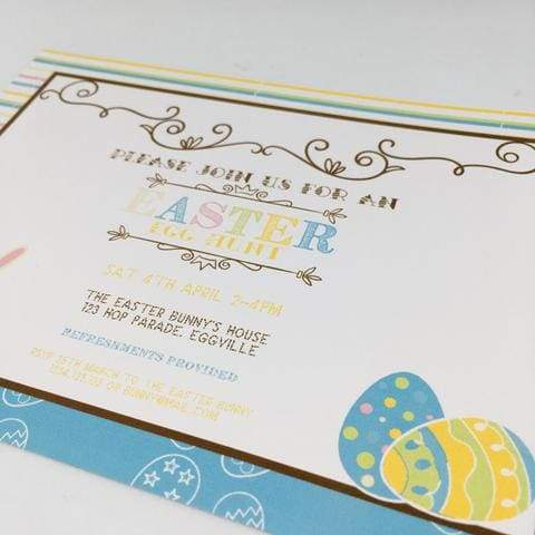 easter egg hunt party invitation printable FREE