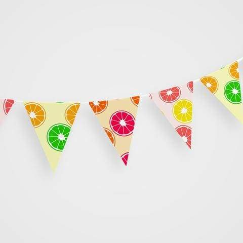 free printable citrus fruit party bunting