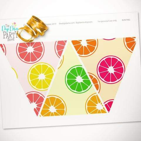 printable citrus fruit bunting free download